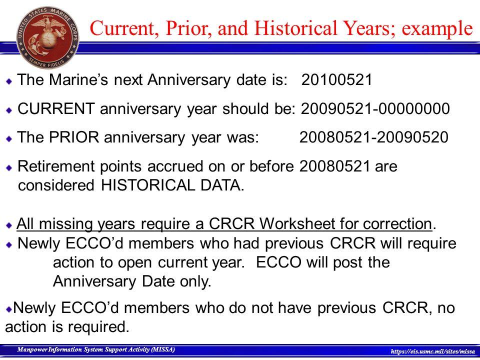 Career Retirement Credit Reporting CRCR ppt download – Composite Score Worksheet Usmc