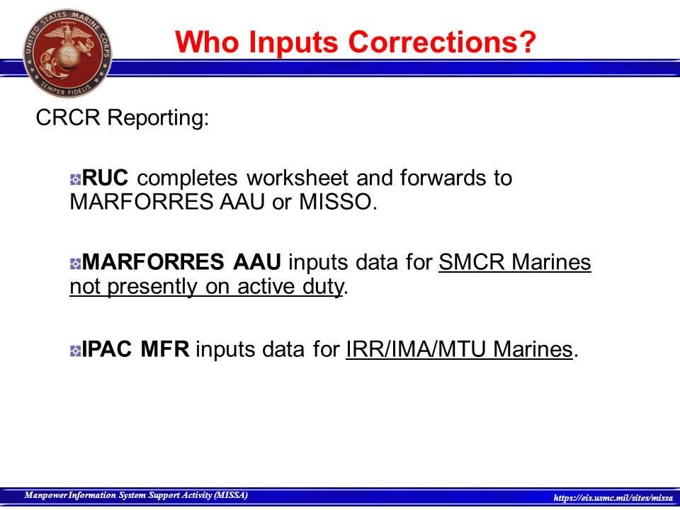 Who Inputs Corrections