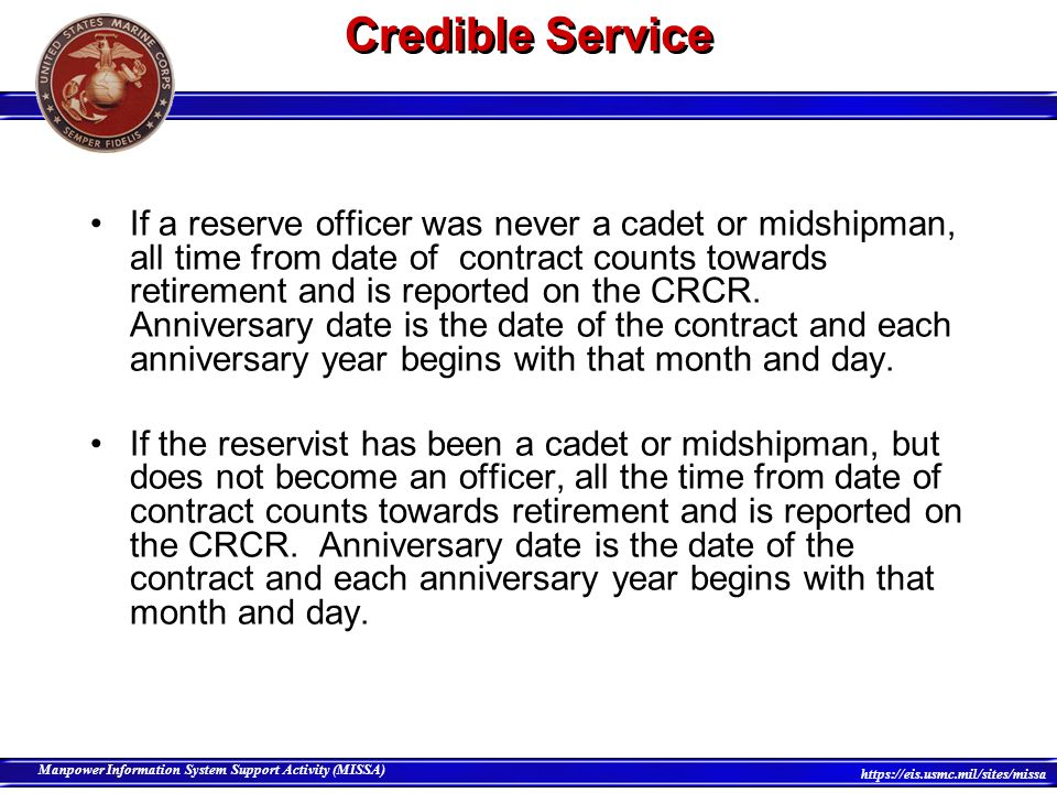 Credible Service