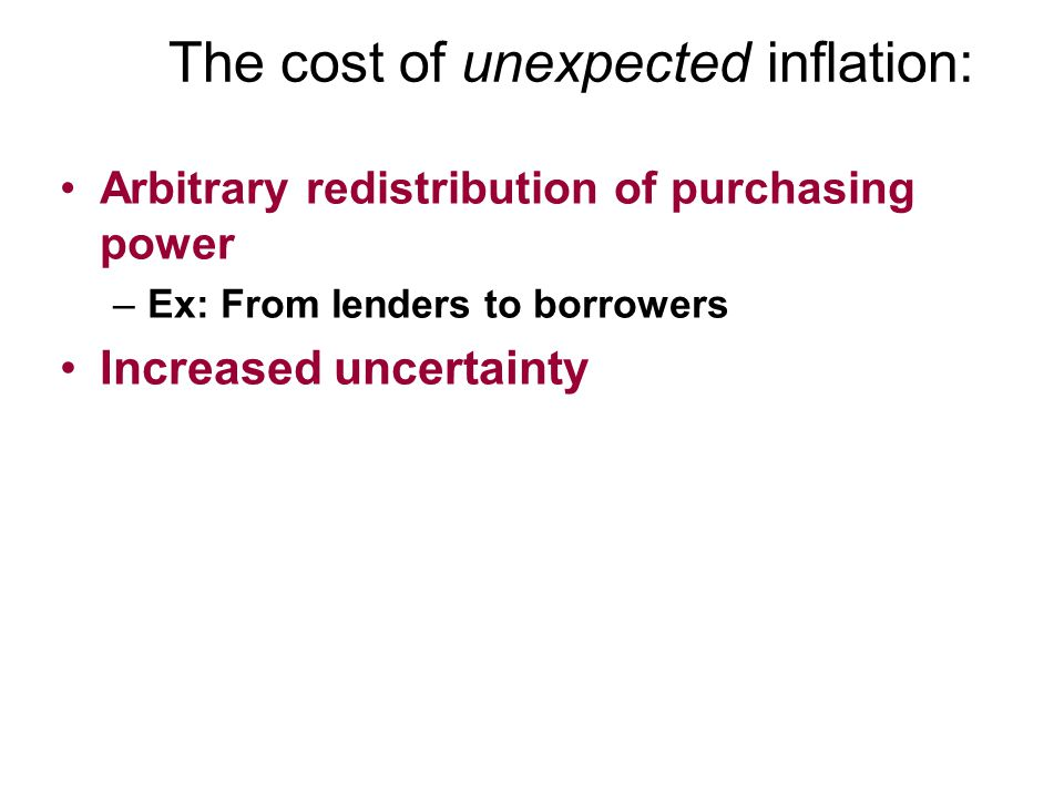 The cost of unexpected inflation: