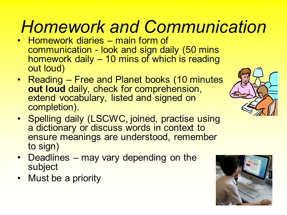 Homework and Communication
