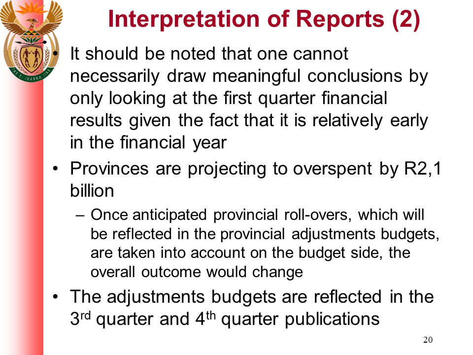 Interpretation of Reports (2)