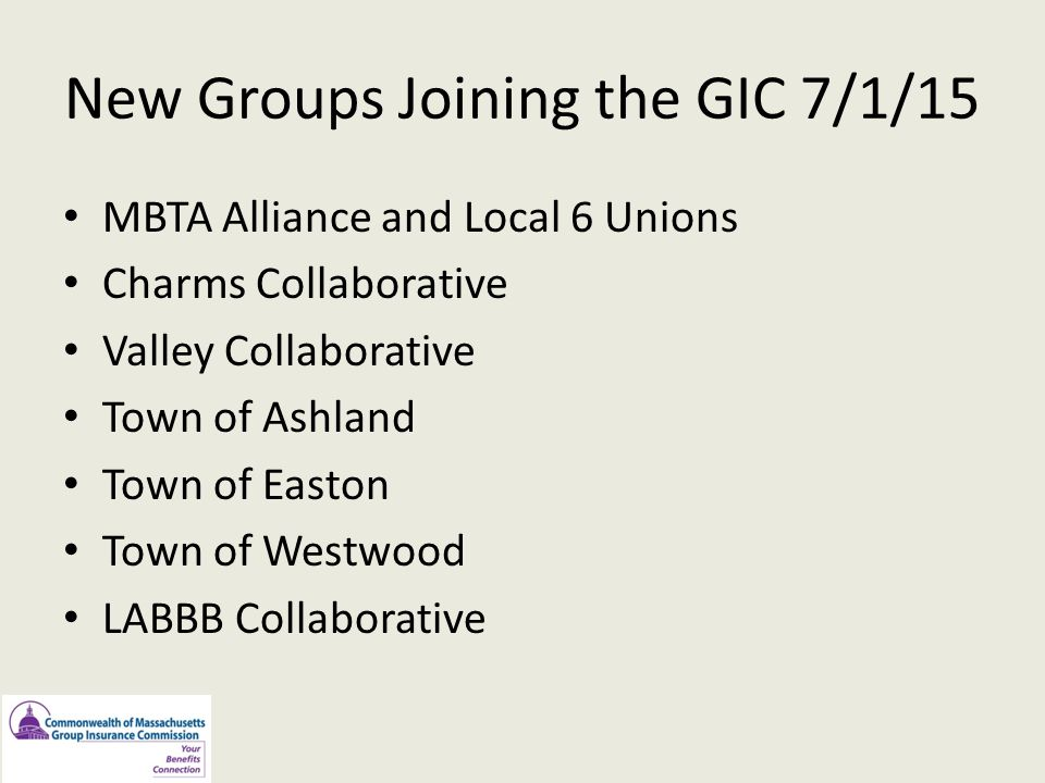 New Groups Joining the GIC 7/1/15