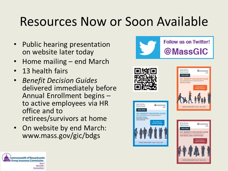 Resources Now or Soon Available