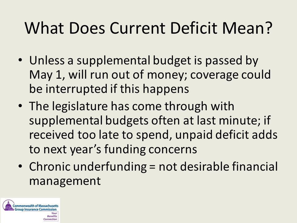 What Does Current Deficit Mean