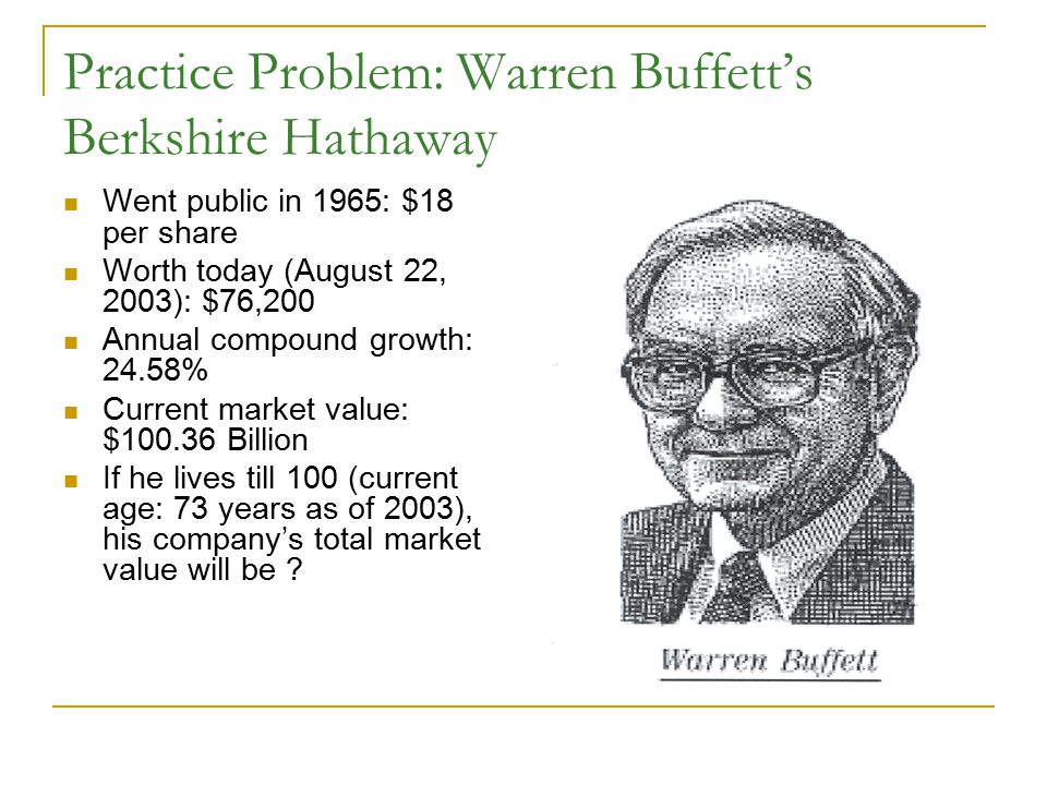 Practice Problem: Warren Buffett's Berkshire Hathaway