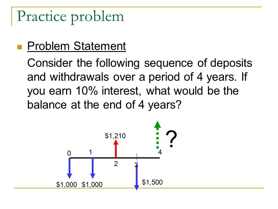 Practice problem Problem Statement