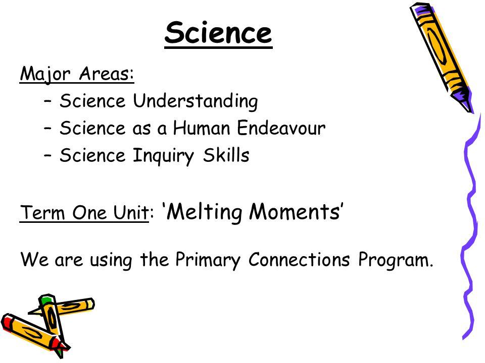Science Major Areas: Science Understanding