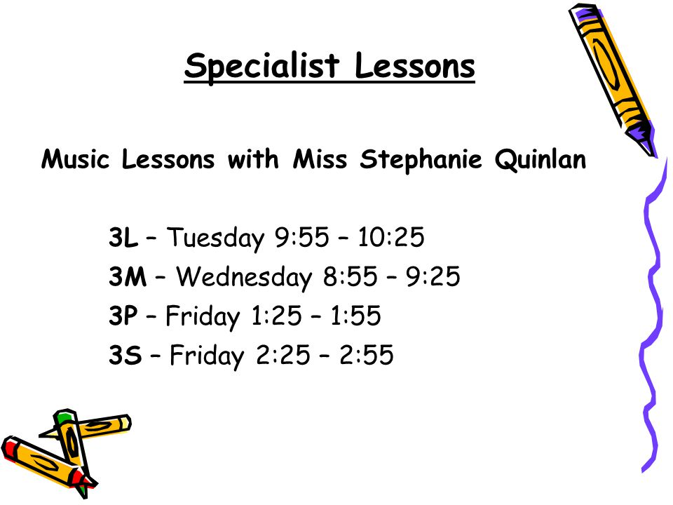 Specialist Lessons Music Lessons with Miss Stephanie Quinlan