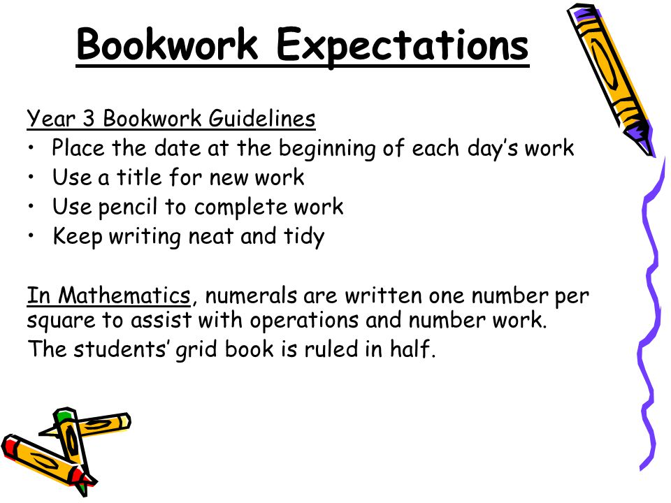 Bookwork Expectations