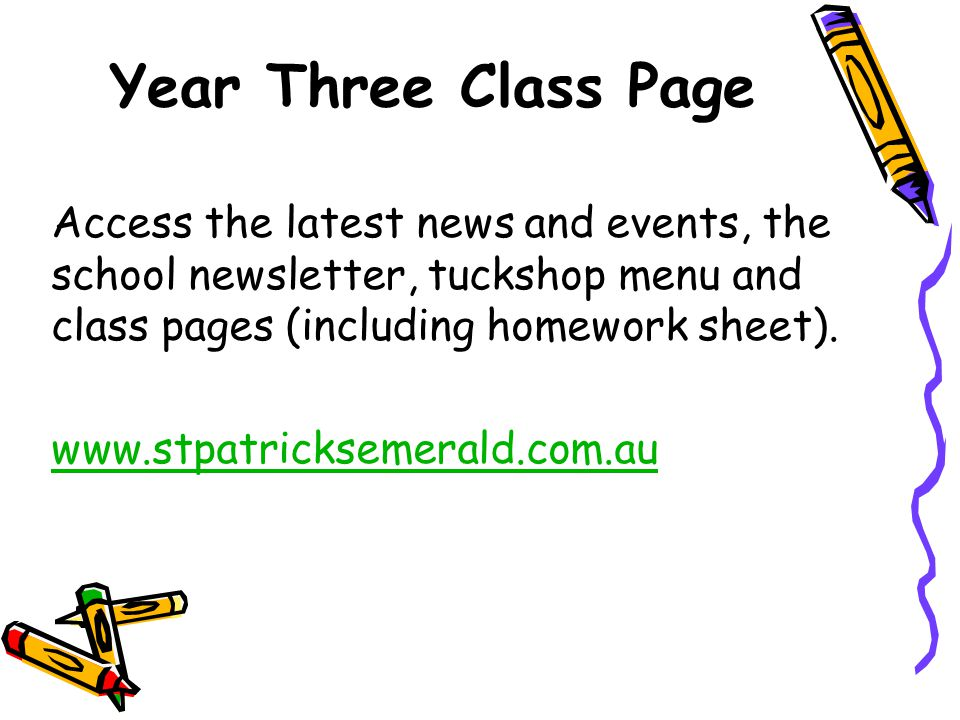 Year Three Class Page