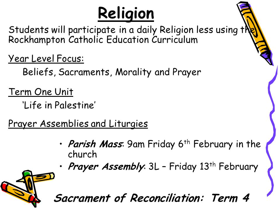 Sacrament of Reconciliation: Term 4