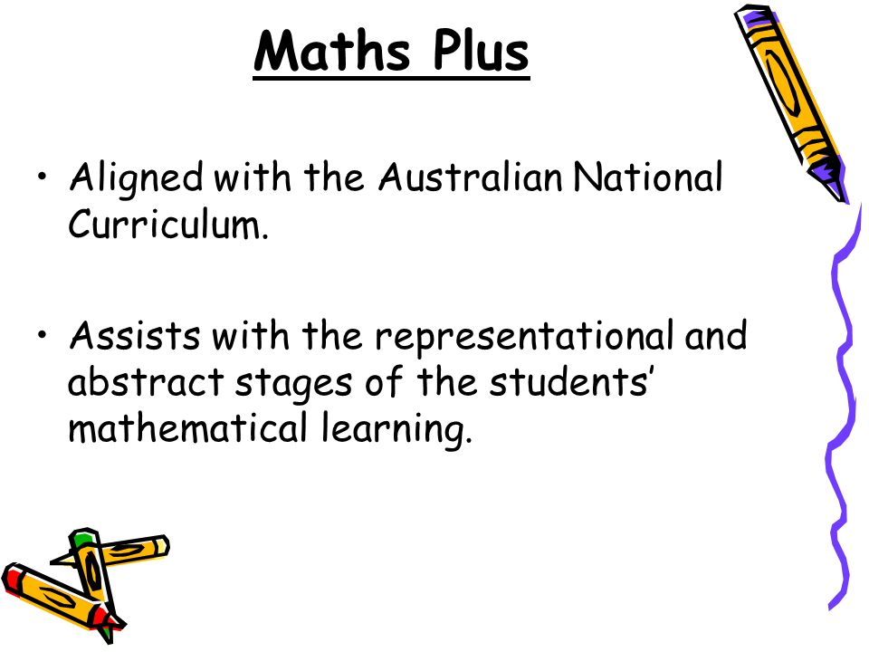 Maths Plus Aligned with the Australian National Curriculum.