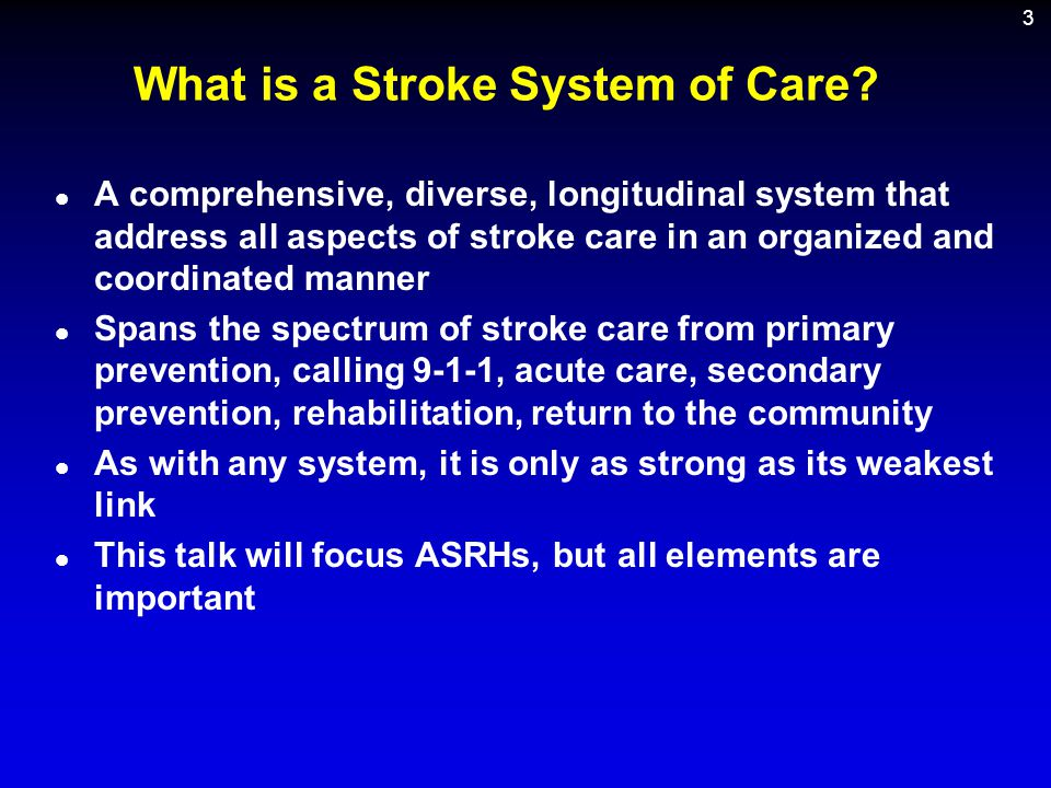What is a Stroke System of Care