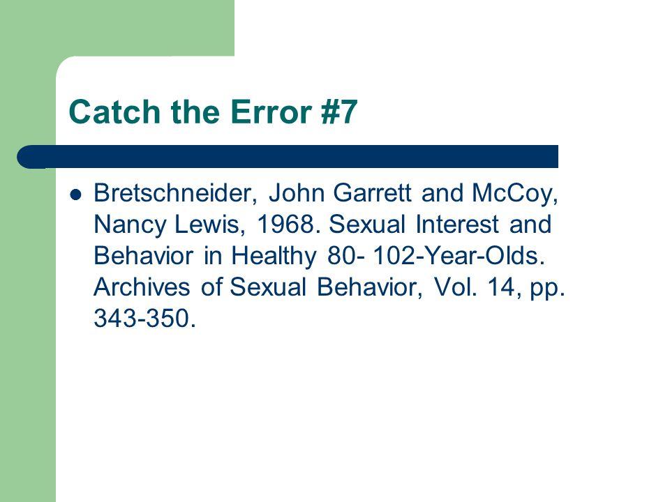 Catch the Error #7