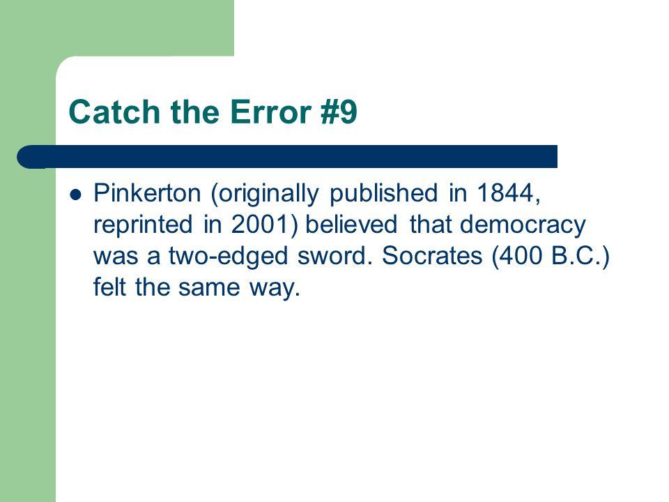 Catch the Error #9