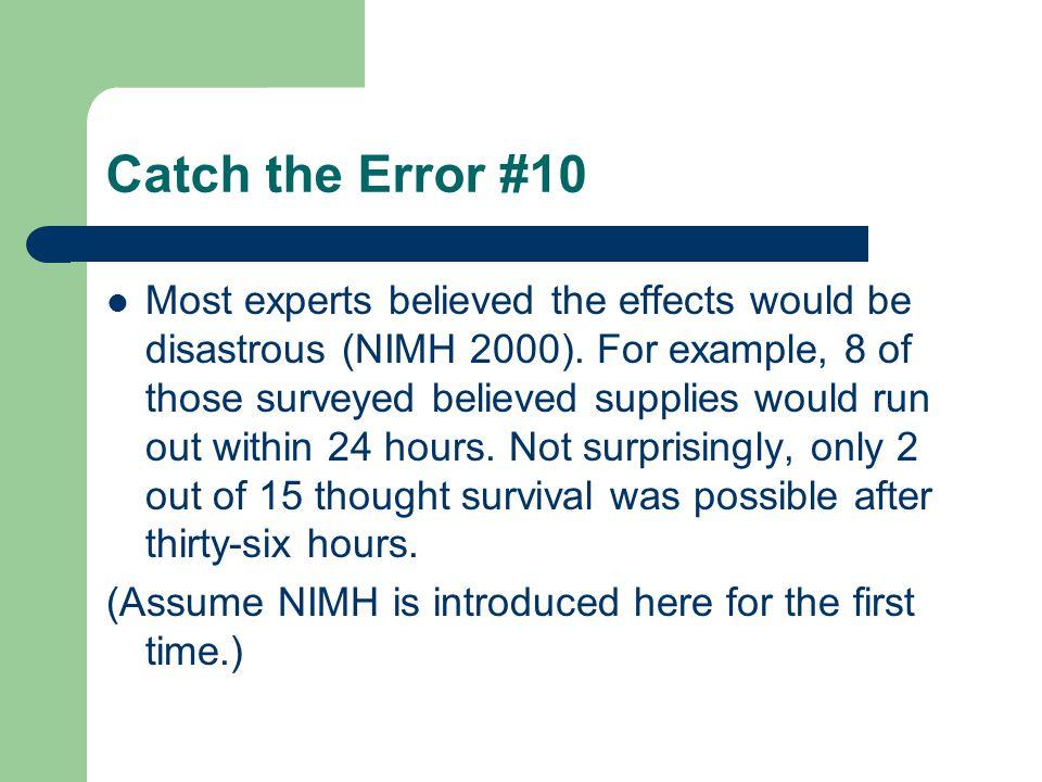 Catch the Error #10