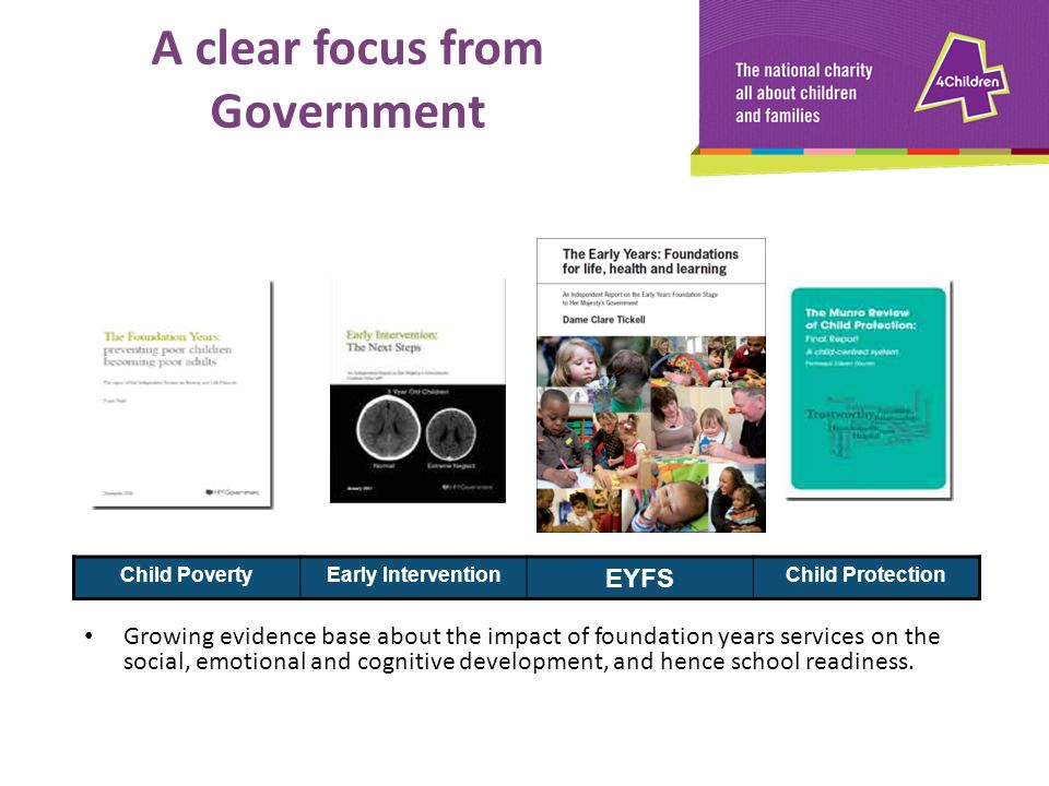 A clear focus from Government