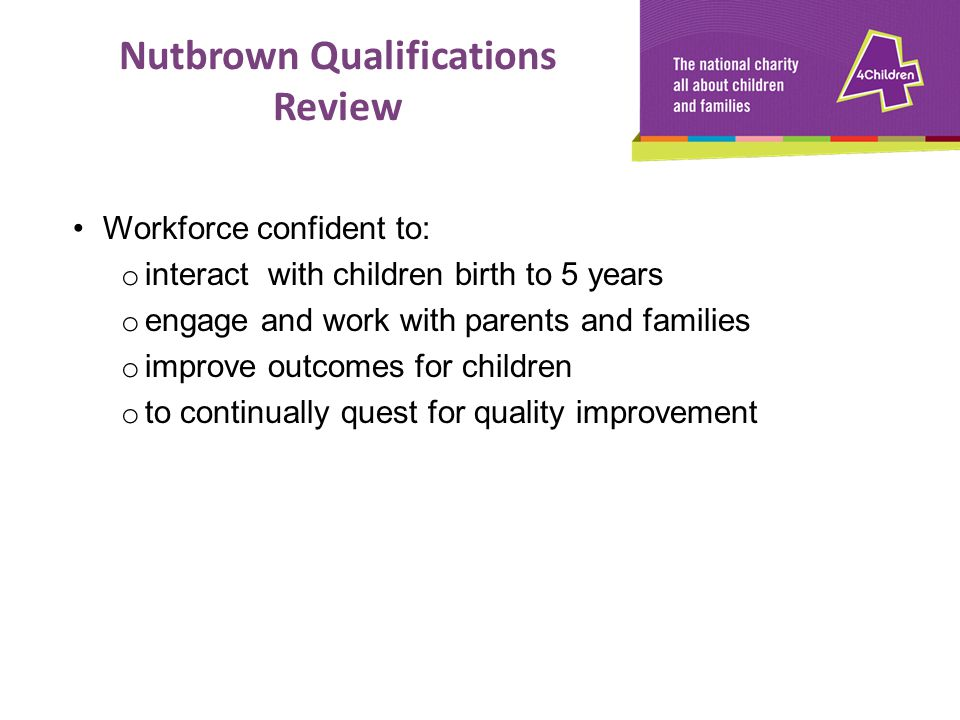 Nutbrown Qualifications Review