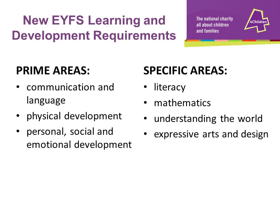 New EYFS Learning and Development Requirements