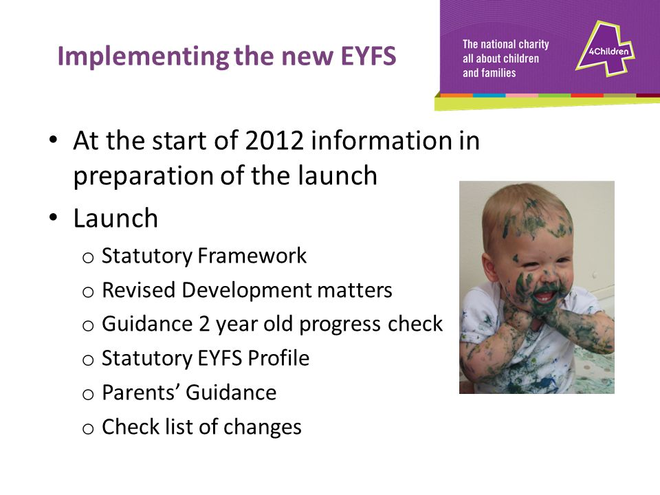 Implementing the new EYFS