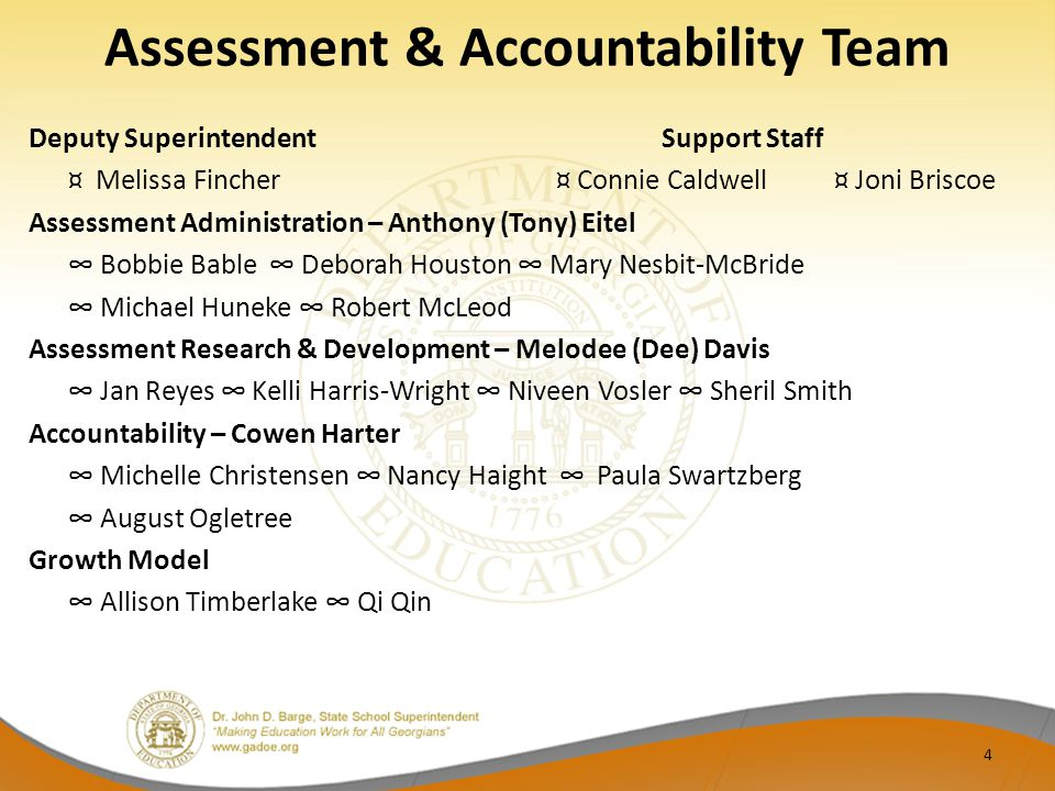 Assessment & Accountability Team