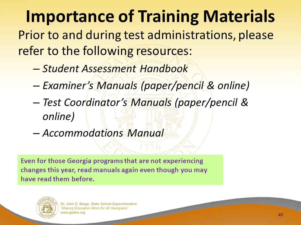 Importance of Training Materials