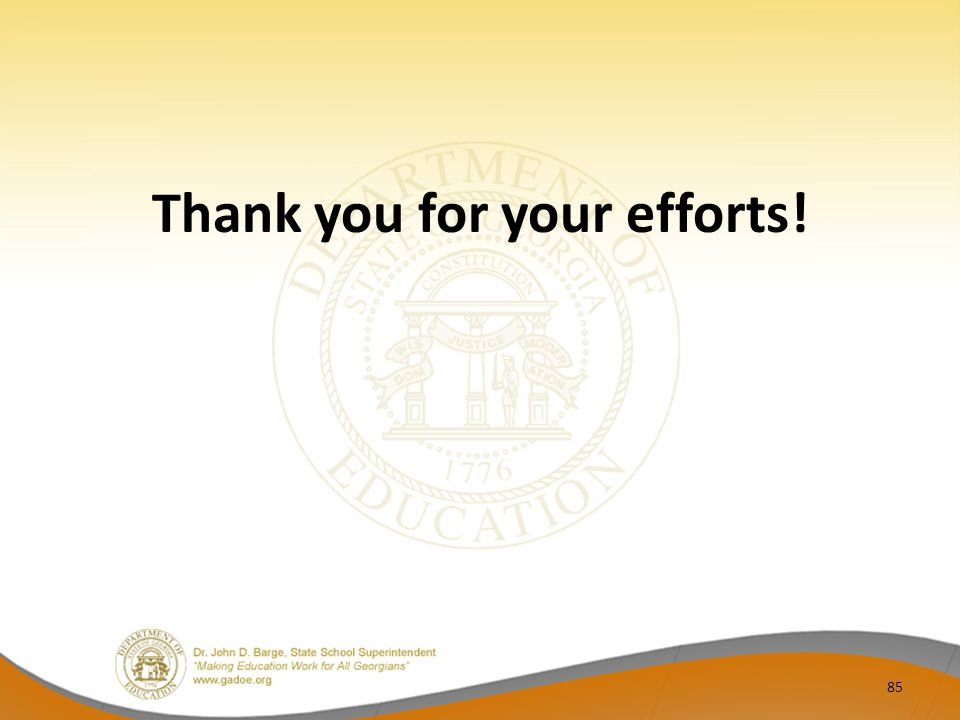 Thank you for your efforts!