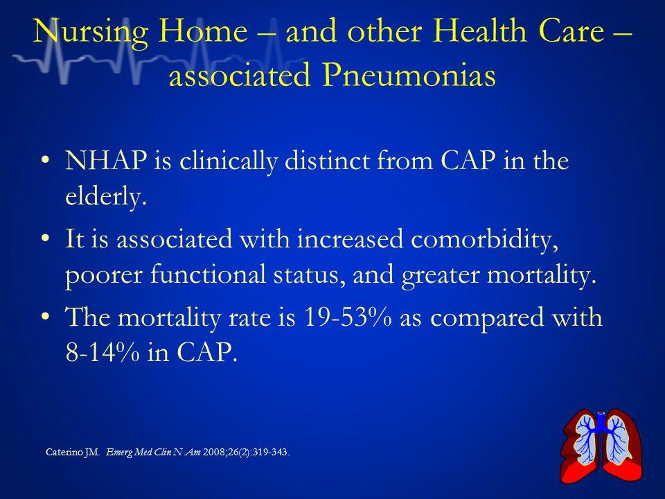 Nursing Home – and other Health Care – associated Pneumonias