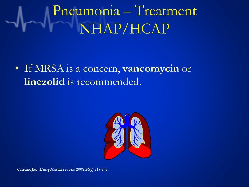 Pneumonia – Treatment NHAP/HCAP