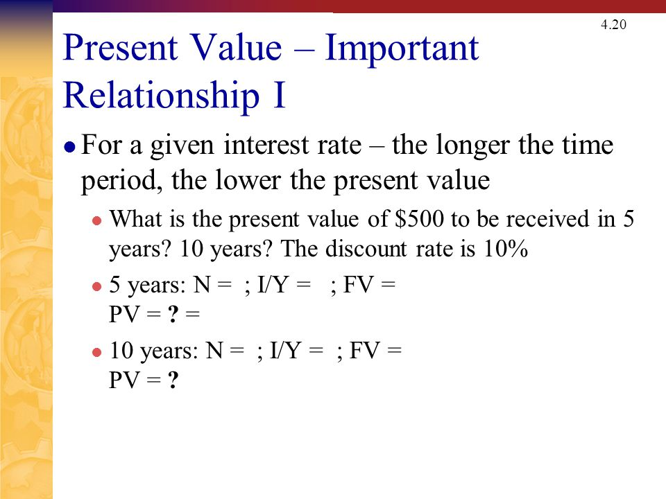 Present Value – Important Relationship II
