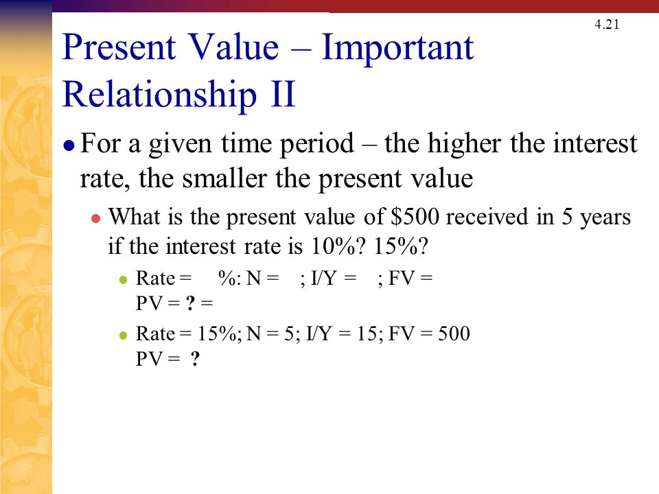 Quick Quiz – Part 2 What is the relationship between present value and future value