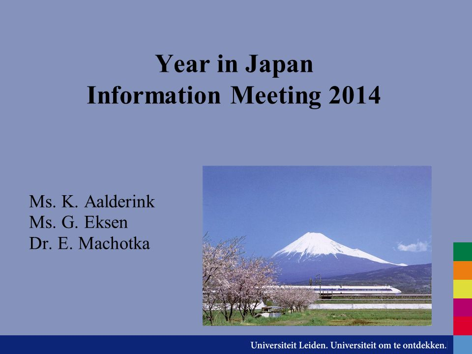 Year in Japan Information Meeting 2014