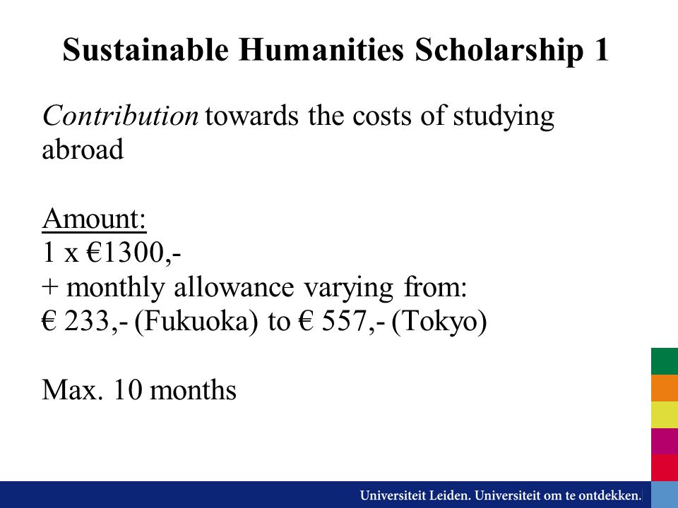 Sustainable Humanities Scholarship 1