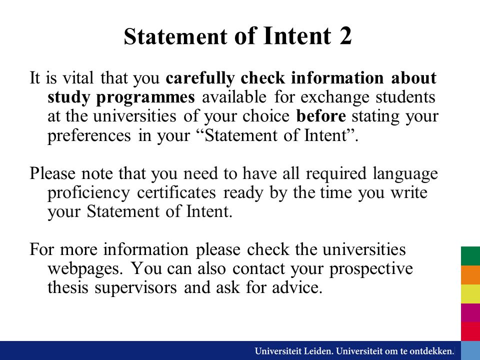 Statement of Intent 2