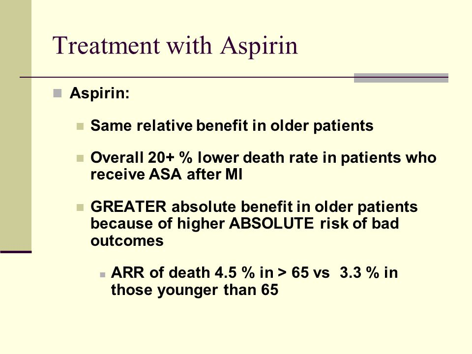 Treatment with Aspirin