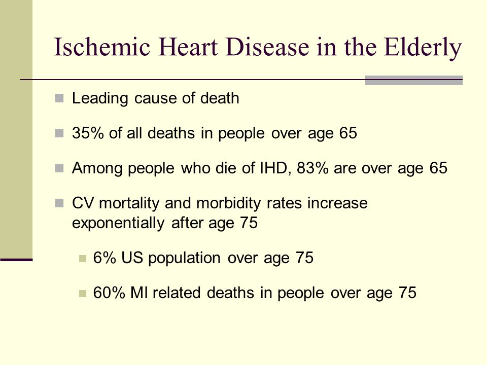 Ischemic Heart Disease in the Elderly
