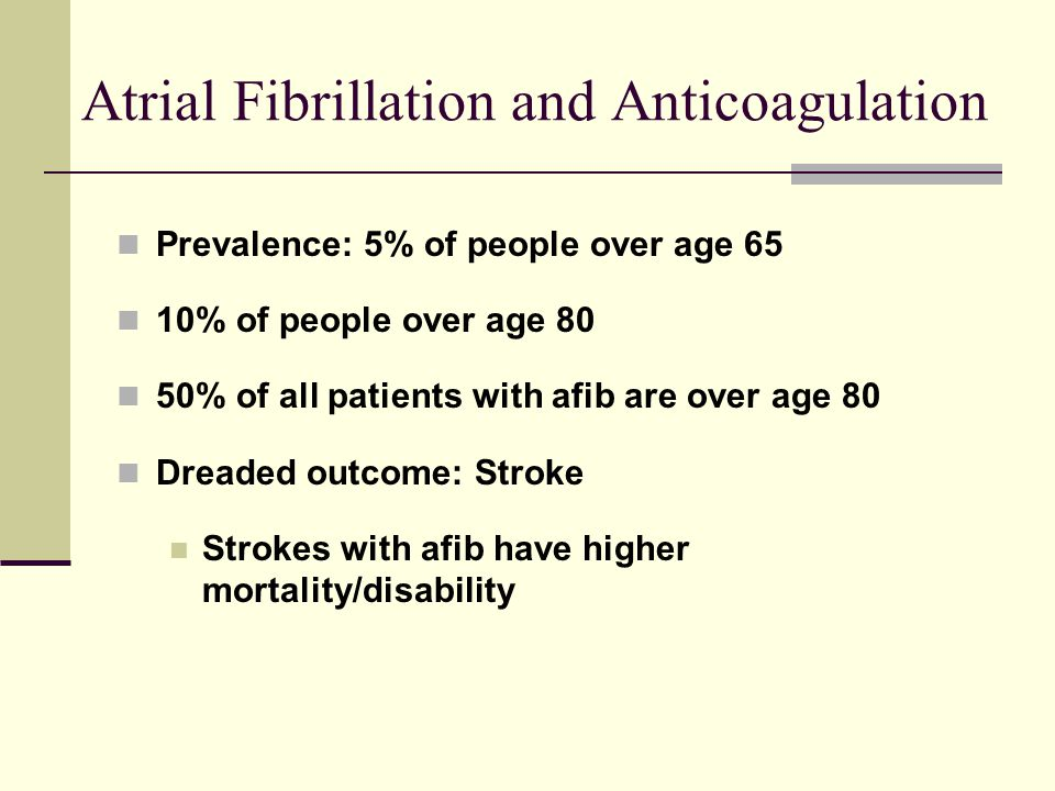 Atrial Fibrillation and Anticoagulation