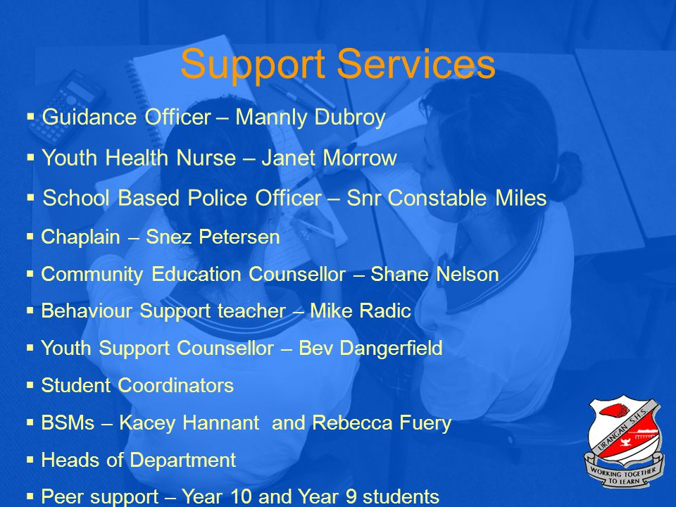 Support Services Guidance Officer – Mannly Dubroy