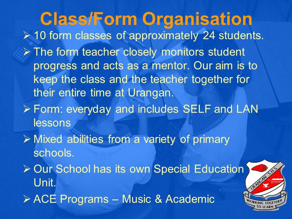Class/Form Organisation