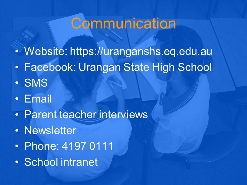Communication Website: https://uranganshs.eq.edu.au