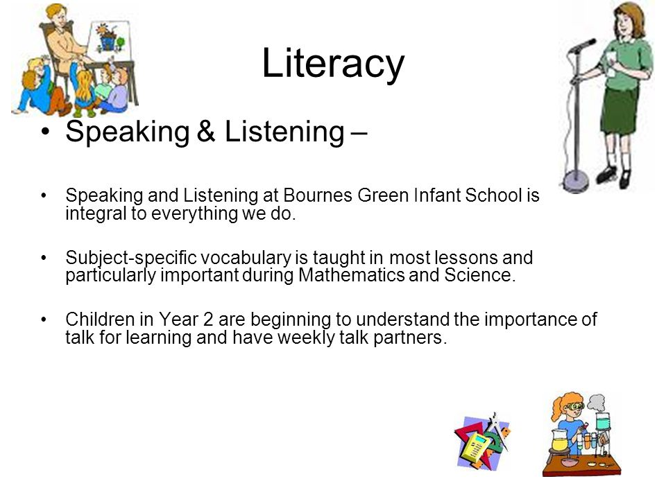 Literacy Speaking & Listening –