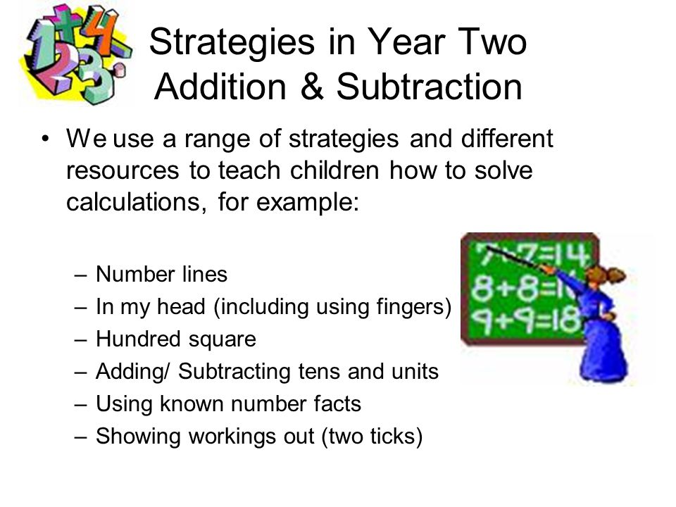 Strategies in Year Two Addition & Subtraction
