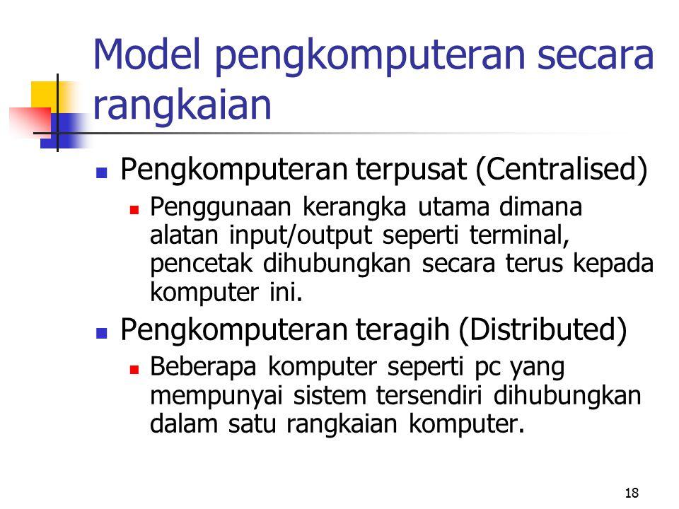 Model pengkomputeran secara rangkaian