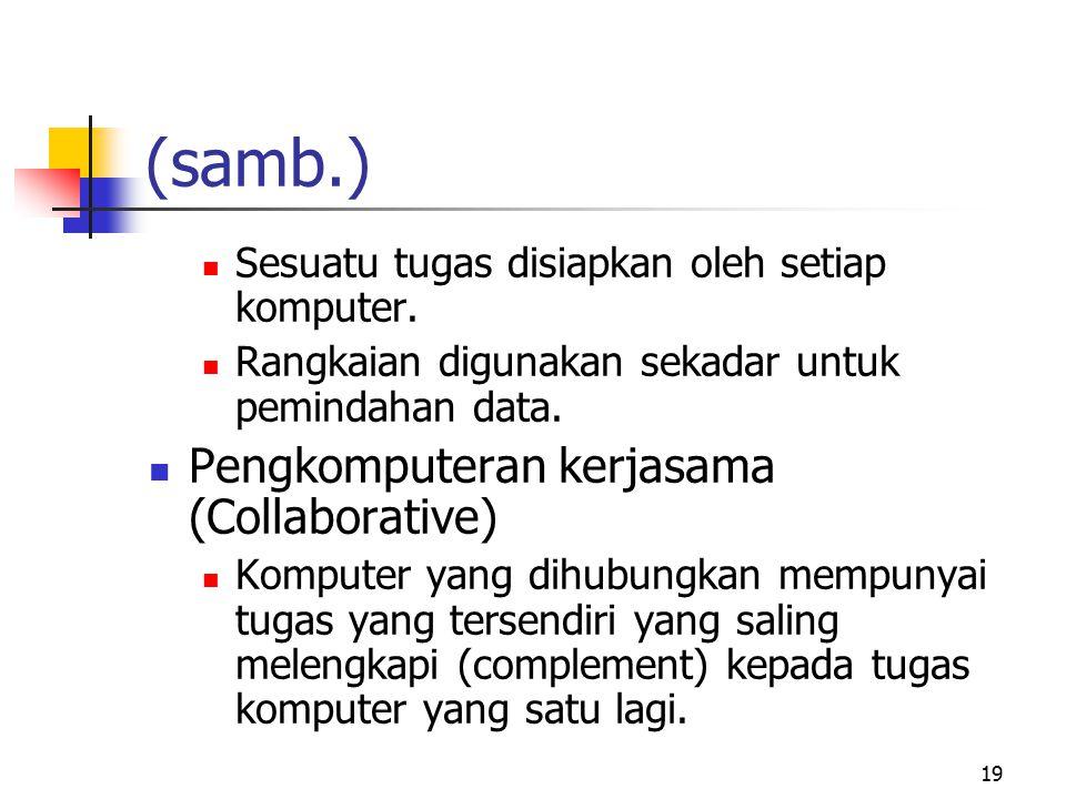 (samb.) Pengkomputeran kerjasama (Collaborative)