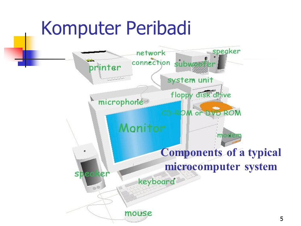 Components of a typical microcomputer system