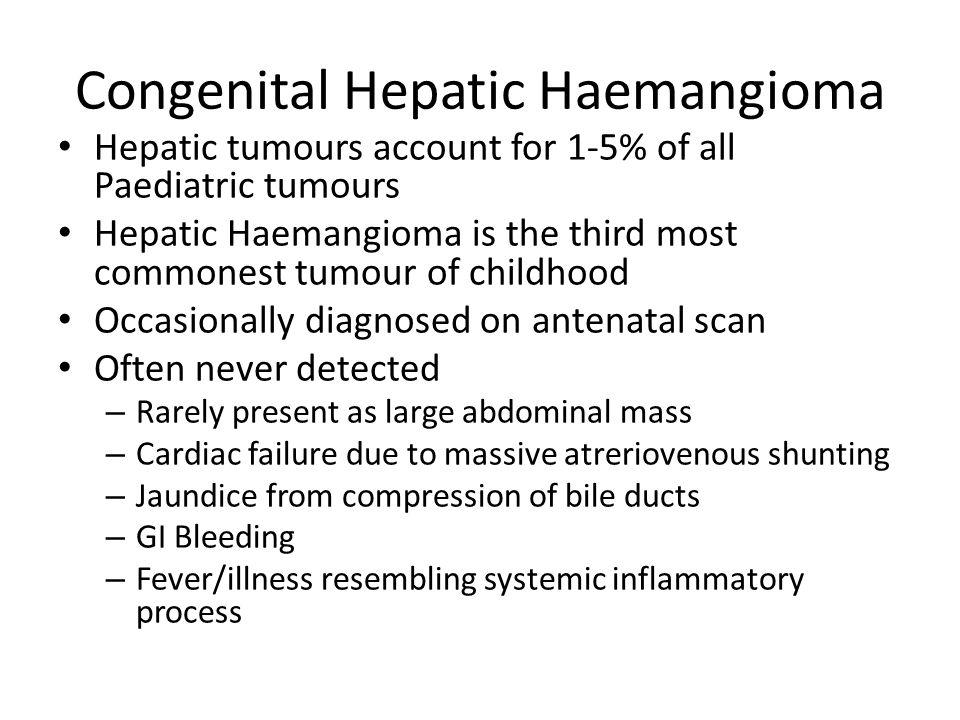 Congenital Hepatic Haemangioma