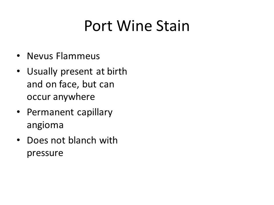 Port Wine Stain Nevus Flammeus
