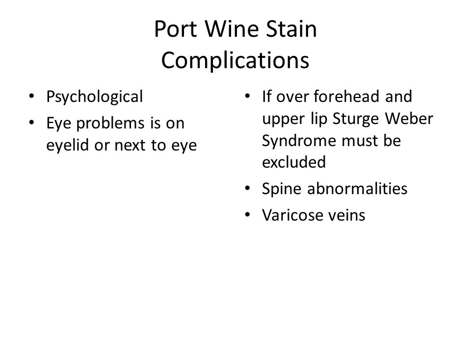 Port Wine Stain Complications