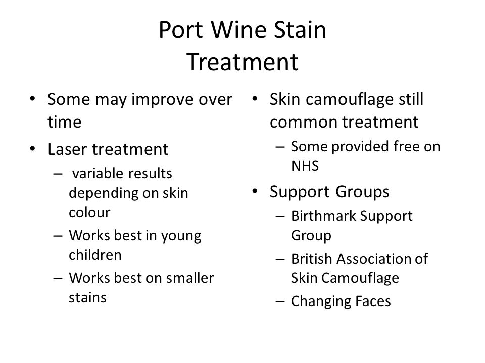 Port Wine Stain Treatment